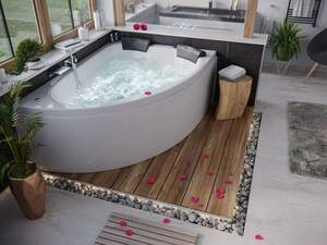 Deluxe Whirlpool Royal XL 1800 ULTRA rechts ohne Armatur