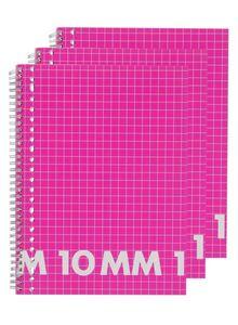 HEMA 3er-Pack Karierte (10 Mm) Collegeblocks, DIN A4