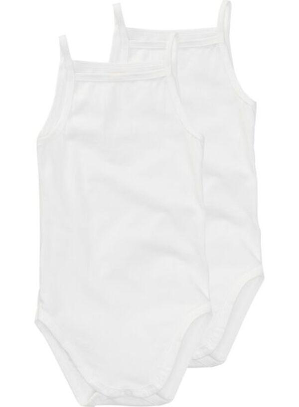 HEMA Zwei Bodys - Bio-Baumwollstretch Weiß