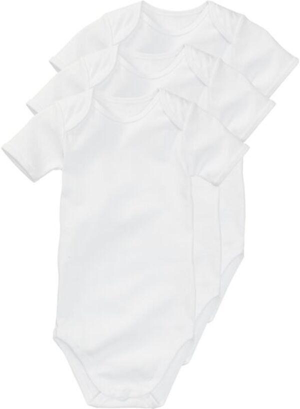 HEMA Baumwollbody - 3 Stück Weiß