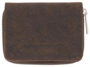 HEMA Portemonnaie, 10 X 13 Cm, Leder, Braun