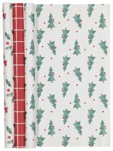 HEMA 3er-Pack Geschenkpapier, 200 X 50 Cm, Weihnachten