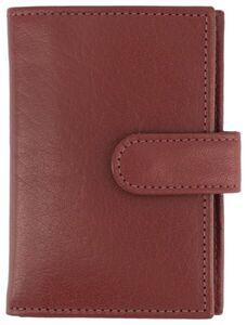HEMA Lederportemonnaie Mit Klarsichthüllen, Rot