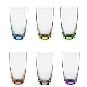Bohemia Gläserset 6-teilig , 010166216 *mb* , Glas , 350 ml , farbig , 003280003002