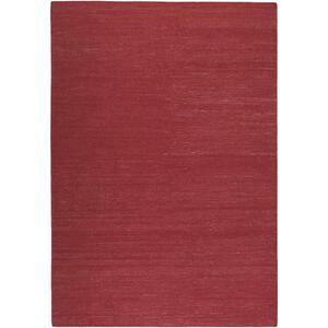 Esprit Handwebteppich 130/190 cm rot , Rainbow Kelim Esp-7708 , Textil , Uni , 130x190 cm , für Fußbodenheizung geeignet, in verschiedenen Größen erhältlich, für Hausstauballergiker geeignet, p