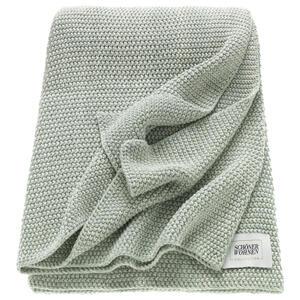 Schöner Wohnen Plaid , Sw-Melange , Beige, Mintgrün , Textil , Uni , 130x170 cm , 003021009103