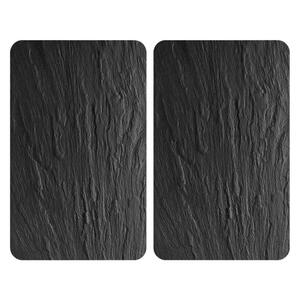 Wenko Herdabdeckplatte , 2521480100 , Schieferfarben , Kunststoff, Glas , 30x1.8-4.5x52 cm , 004332051601