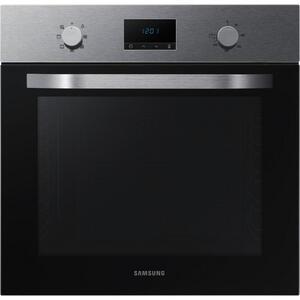 Samsung Backofen nv70k1340bs/eg , Nv70K1340Bs/eg , Schwarz, Edelstahlfarben , Metall, Glas , 59.5x59.5x56.6 cm , Kindersicherung, Digitaldisplay, Elektronikuhr , 002501001601
