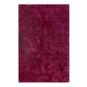 Esprit Hochflorteppich 160/230 cm getuftet violett, weinrot , Relaxx Esp-4150 , Textil , Uni , 160x230 cm , für Fußbodenheizung geeignet, in verschiedenen Größen erhältlich, lichtunempfindlich,