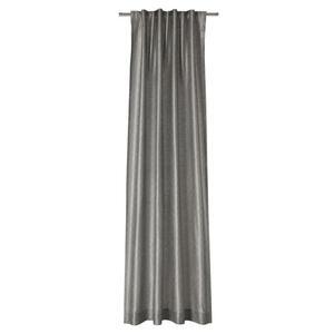Joop! VORHANGSCHAL blickdicht 130/250 cm , J-Silkallover , Grau , Textil , Uni , 130x250 cm , für Stange und Schiene geeignet , 003021092401