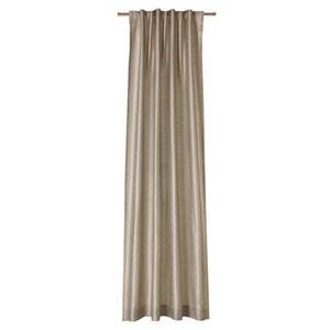 Joop! VORHANGSCHAL blickdicht 130/250 cm , J-Silkallover , Beige , Textil , Uni , 130x250 cm , für Stange und Schiene geeignet , 003021092402