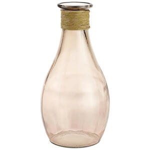 XXXLutz Vase 21 cm , 870111 , Terra cotta , Glas , 21.00x40.00x21.00 cm , farbig , 003754466501