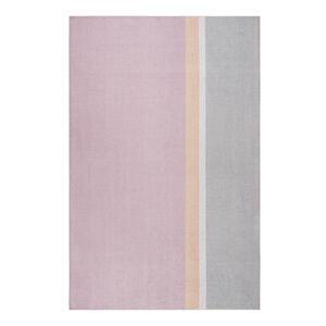 Esprit Flachwebeteppich 160/230 cm grau, orange, rosa, beige , Saltriver , Textil , Streifen , 160x230 cm , für Fußbodenheizung geeignet, in verschiedenen Größen erhältlich, für Hausstauballerg