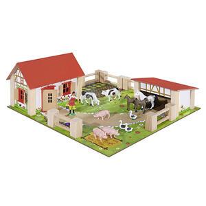 Eichhorn Bauernhofset , 100004304 Eichhorn , Multicolor , Holz , Buche , 38x25.3x14.3 cm , lackiert , 004500048901