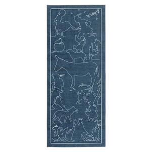 Ben'n'jen Läufer 80/300 cm blau , Grimmliis , Textil , Personen , 80x300 cm , Chenille , für Fußbodenheizung geeignet , 007807037099