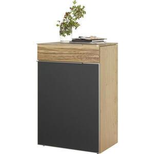 Voglauer Schuhschrank altholz, eiche furniert, mehrschichtige massivholzplatte (tischlerplatte) grau, eichefarben , V-Alpin , Holz , furniert, mehrschichtige Massivholzplatte (Tischlerplatte),furnier