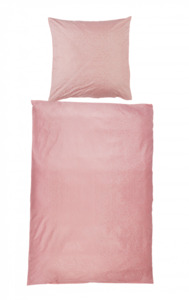 Home Ideas Living Mikrofaser-Bettwäsche, 135x200, rosa