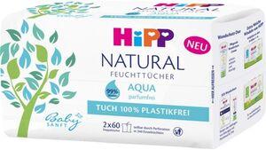 HiPP Babysanft Feuchttücher Natural Aqua 2x60