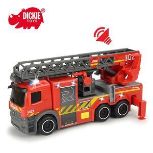Dickie Toys Feuerwehr Drehleiterwagen mit Licht- und Soundeffekten