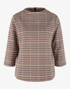s.Oliver - Sweatshirt mit Hahnentrittmuster