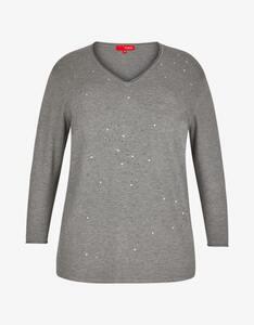 Thea - Feinstrick-Pullover mit Ziersteinen