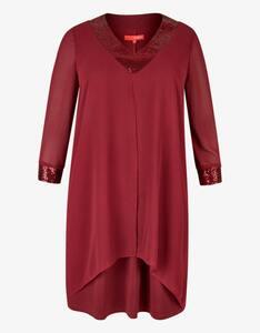 Thea - Chiffon-Kleid mit Paillettenbesatz