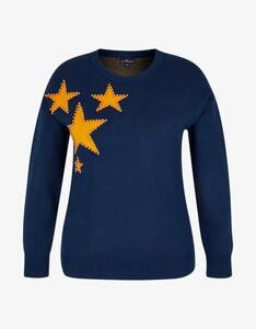 Via Cortesa - softer Pullover mit Sternen und Perlen