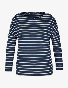 Via Cortesa - Flauschiges Shirt im Streifen-Design
