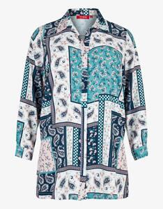 Thea - lange Bluse mit Allover-Print