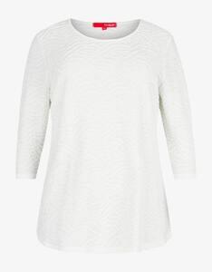 Thea - unifarbenes Struktur-Shirt
