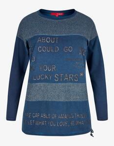Thea - Shirt mit Glitzereffekt und Schriftzug