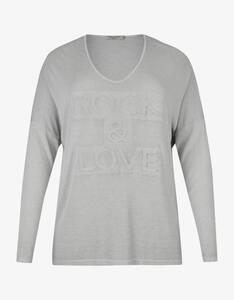 Thea - Shirt in Strickoptik mit 3D-Schriftzug