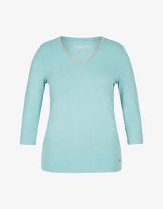 Steilmann Woman - Shirt mit V-Ausschnitt und Kugelketten-Besatz
