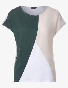 Street One - T-Shirt mit Colourblock-Design