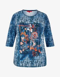 Thea - Shirt mit Alloverdruck und 3/4-Ärmel