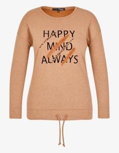 MY OWN - Sweatshirt mit Samtprint im Safari-Style