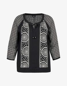 Bexleys woman - Shirtbluse mit Druck und gesmoktem Bund