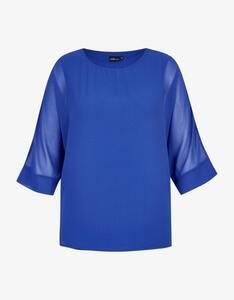 KS. selection - Chiffon-Shirtbluse mit Fledermausärmeln