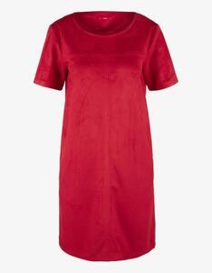 s.Oliver - kurzes Kleid in Velourleder-Optik