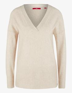 s.Oliver - Feinstrick-Pullover mit breiten Bündchen