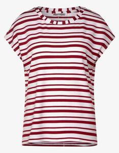 Street One - Shirt mit Streifen-Mix und überschnittener Schulter