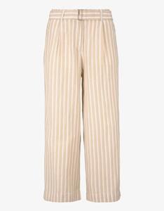 Tom Tailor - gestreifte Culotte-Hose mit Leinen-Anteil