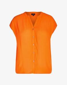Via Cortesa - unifarbene Struktur-Bluse aus reiner Viskose