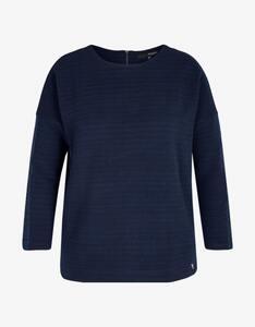 MY OWN - Struktur-Sweatshirt mit Reißverschluss