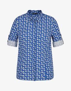 Bexleys woman - Bluse mit Punkte-Druck und Krempelärmeln