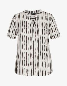 Bexleys woman - gemusterte Bluse mit V-Ausschnitt