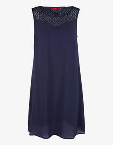 s.Oliver - Crepe-Kleid mit Spitzenpasse, Viskose