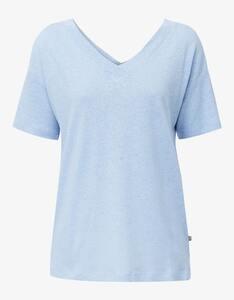 Esprit - Shirt mit doppeltem V-Ausschnitt