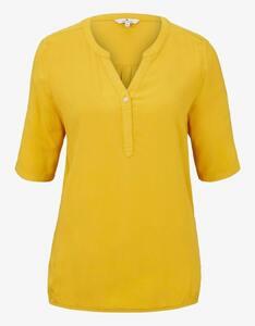 Tom Tailor - Bluse mit Henley-Ausschnitt und elastischem Bund