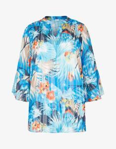 Thea - Tunika-Bluse mit eingenähtem Top und exotischem Druck